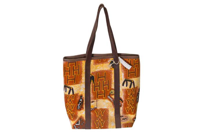 Shoulder Bag Orange Print  African Handbag image