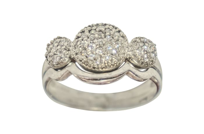 Silver Wedding Set Ring TRG-296 image