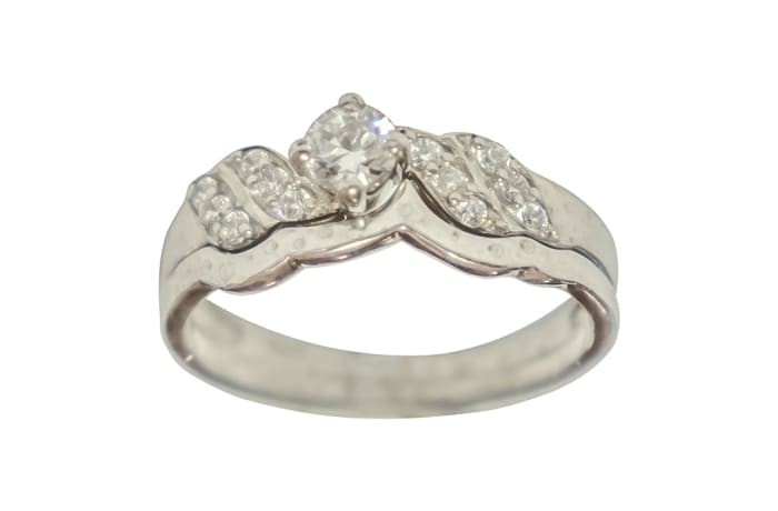Silver Wedding Set Ring TRG-323 image