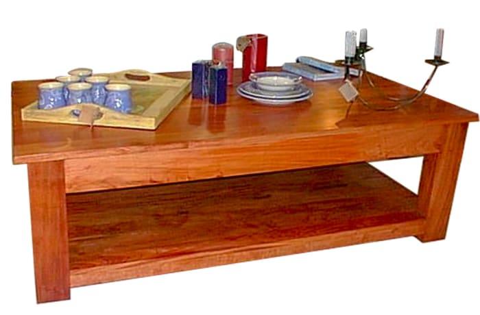 Solid Teak Wood Coffee Table - Large  image