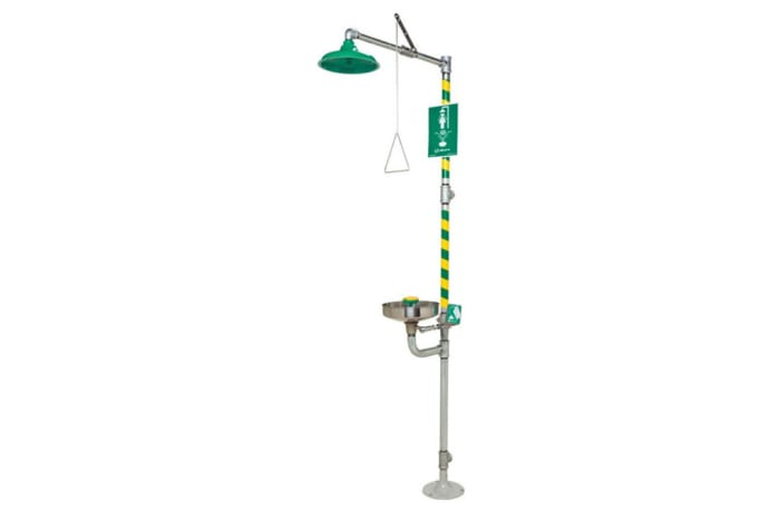 Eye Wash-Emergency Shower - Shower & Wash Basin Green image