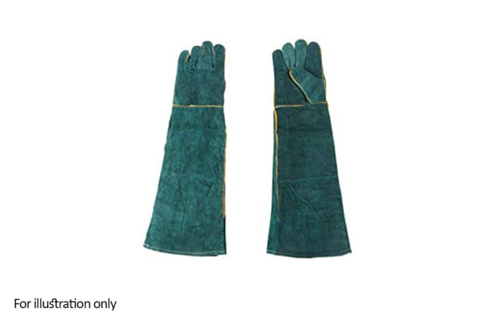 Hand Protection - Welders leather gloves long green image