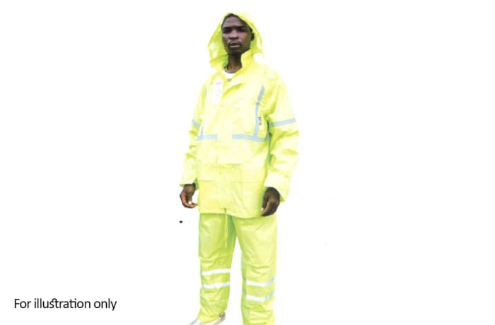 Water Proof Clothing - Hi Vis rain suits, Yellow image