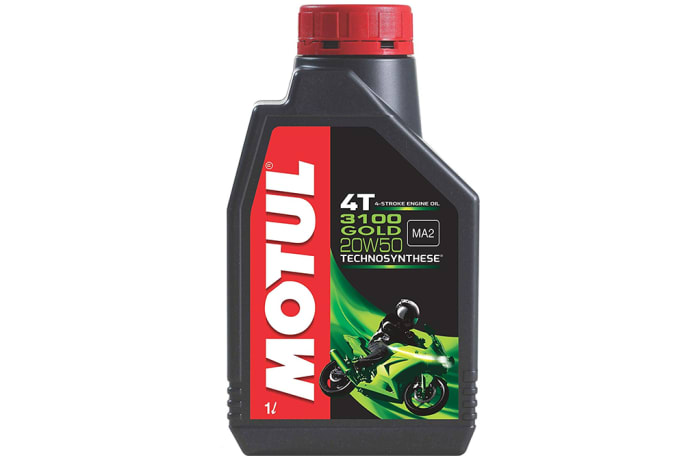 Motul 3100 4T Gold 20W50 Engine Oil for Bikes image