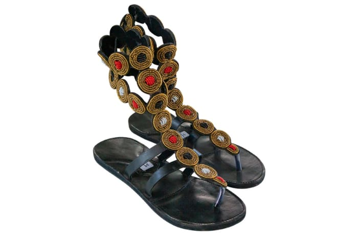 Tanzanian  Gladiator  Leather Slippers image