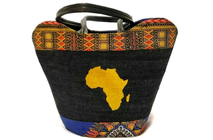 Africa bucket cloth handbag image