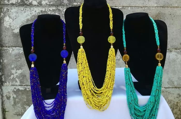 African bead strings necklace image