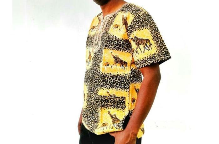 African giraffe printed shirt image