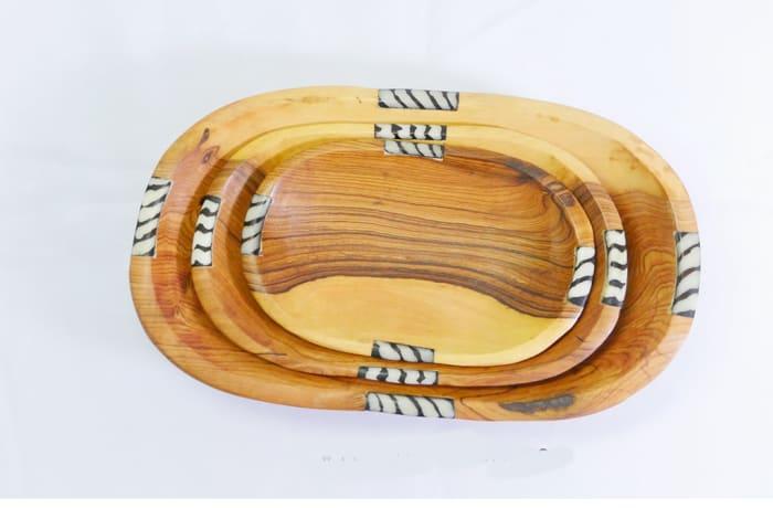 African wood fruit bowls image