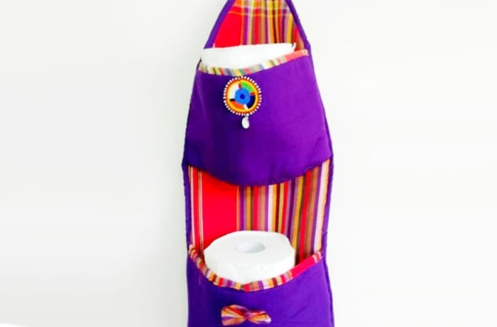 Kikoy toilet roll holder image