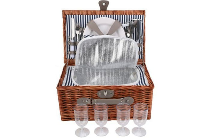 Picnic Basket Wicker   Set for Four  image