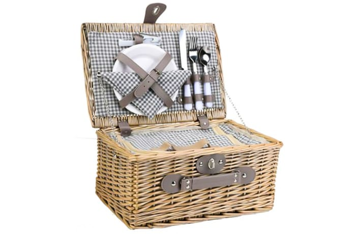 Picnic Basket Wicker   Set for Two image