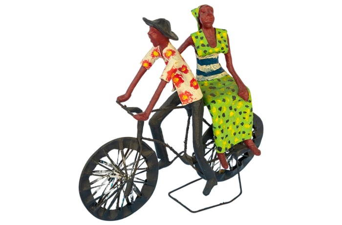 Toy Bicycle Man and Woman  Sculpture image