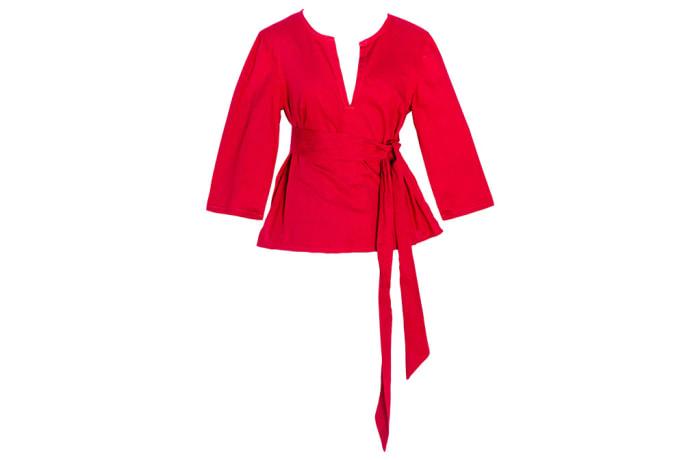Women's Kaftan  Chitenge Top Pink  with Matching Strap image