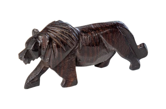 Wooden  Carvings  Animal Black Lion image