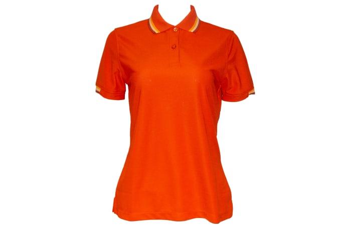 Poligan polo top orange image