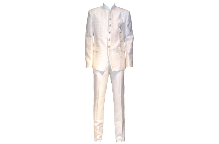 George Jodhpuri Suit Cream image