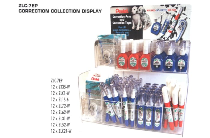 Correction Pens & Tape - ZLC-7EP Correction Collection Display image