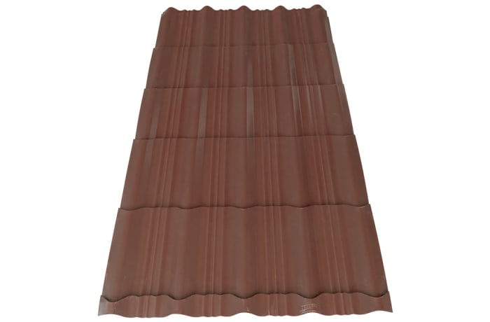 Steel  Q-Tile Roofing Sheets Buffalo Brown  image