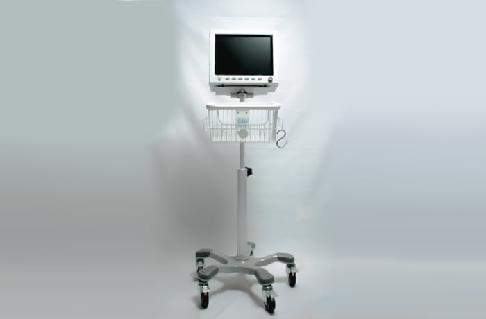 Patient monitor with stand image
