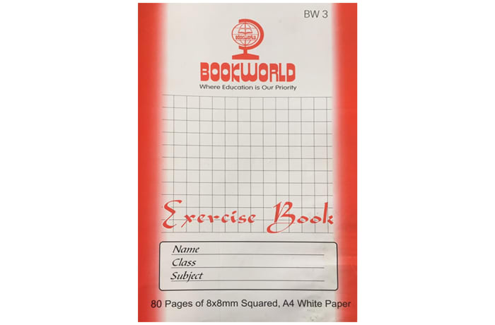 A4 80PGS WHITE SQUARED EXERCISE BOOK image