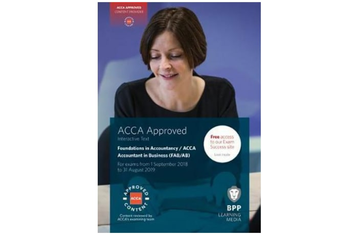 FIA Foundations of Accountant in Business FAB (ACCA F1). Interactive Text image