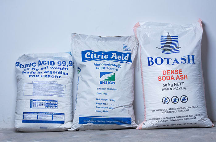 Food processing and water treatment chemicals - 0