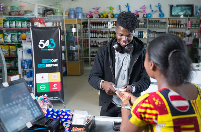 Cash out, Buy airtime and Pay bills - 1