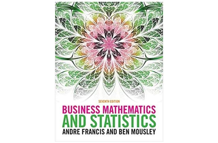 Business Mathematics and Statistics 7th Edition image