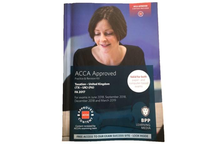 ACCA F6 Taxation FA2017 Study Text image