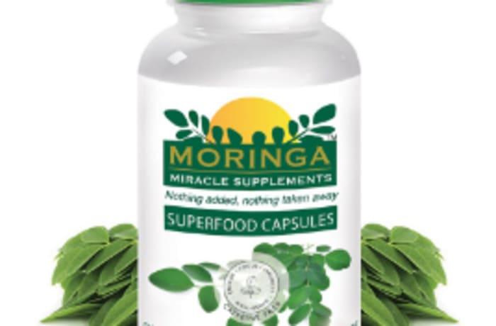 Herb Extract  Moringa Superfood Capsules - 180 image