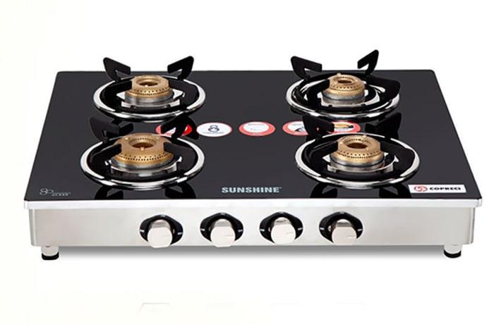 Sunshine - glass top stove 4 plate counter top image