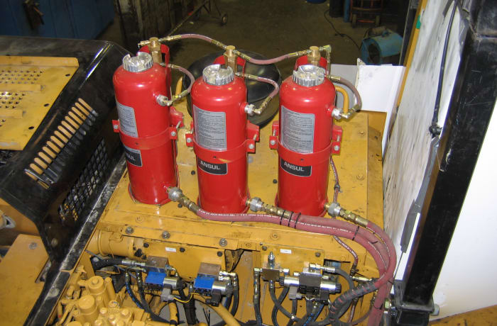 Vehicle fire system maintenance - 1