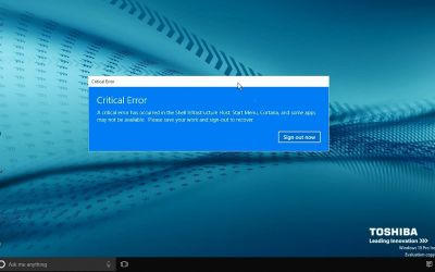 Διόρθωση του Critical Error – Start Menu and Cortana aren't working' Critical Error