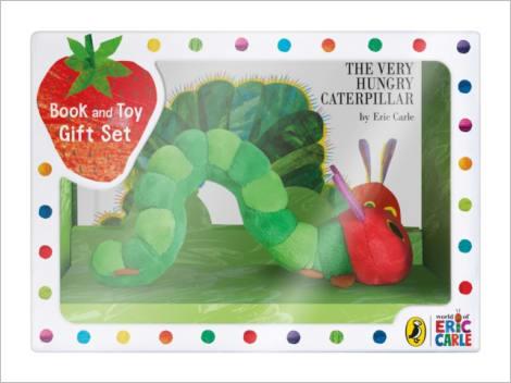 The Very Hungry Caterpillar - Eric Carle - Coffret cadeau livre + peluche