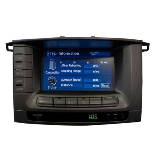 Navigation / Radio Display Repair Service For Toyota Land Cruiser
