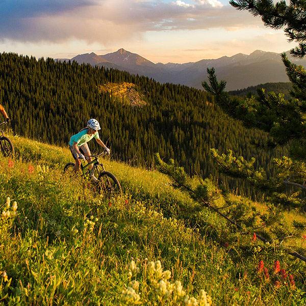 Biking on Vail Mountain