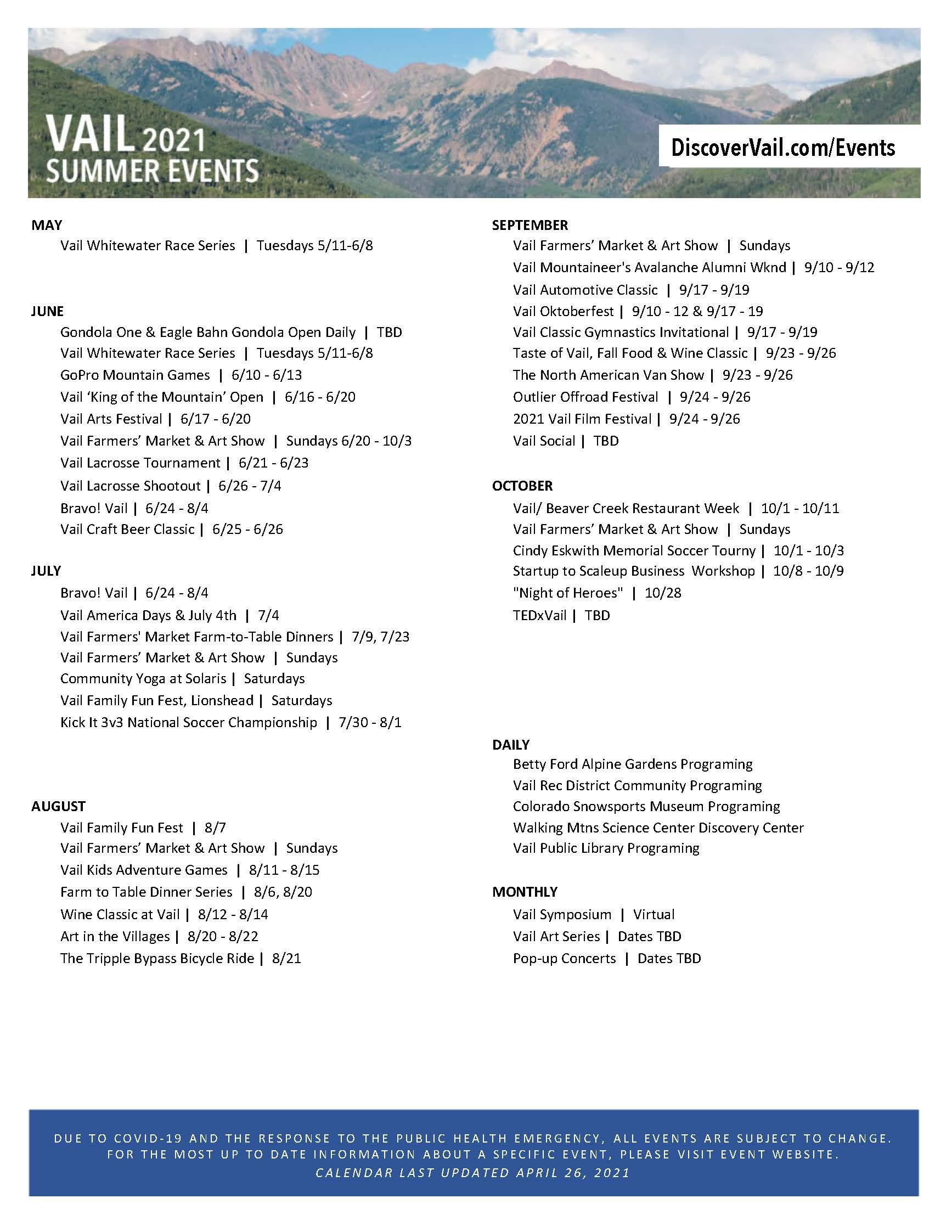 2021 Summer Event Calendar.4.26.2021
