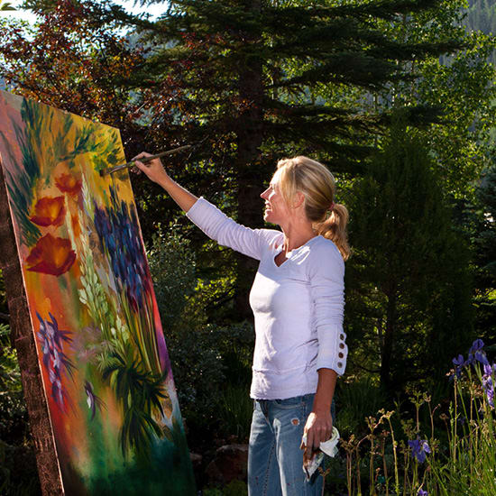 woman Painting at Art Festival