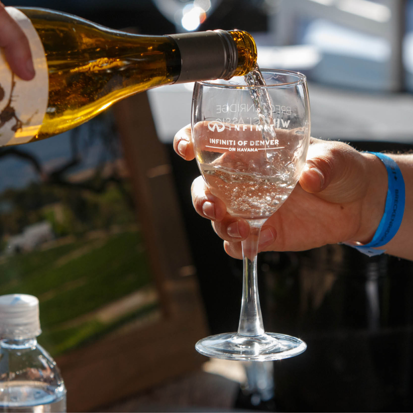 Tasting wine at Vail Wine Classic