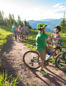Mountain Biking with Family in Vail