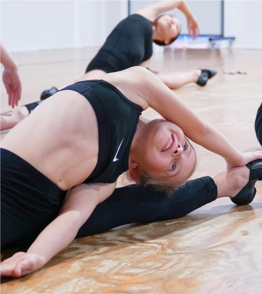 dancers having fun at the studio