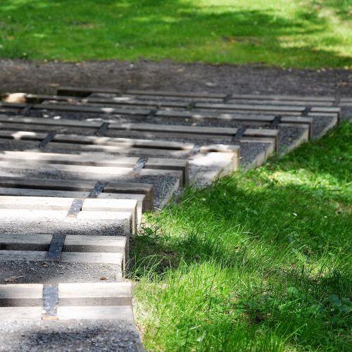 Kámen, schodiště v zahradě hradu Kámen, M&P Architekti, Mp architekti