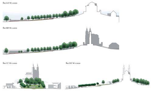 Luže, Návrší poutního kostela na Chlumku, M&P Architekti, Mp architekti