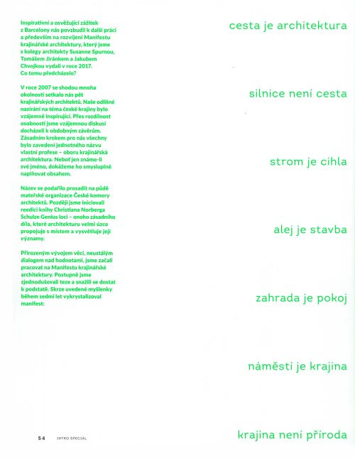 INTRO SPECIÁL – ROSTLINA, M&P Architekti, Mp architekti