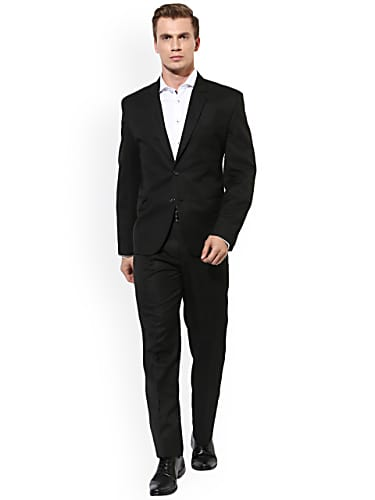 hangup black single-breasted regular fit formal suit