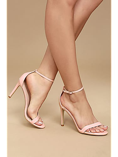 pink patent ankle strap heels