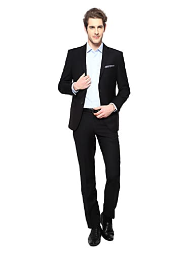 go for louis philippe black two piece suit