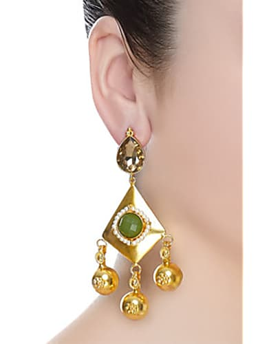 go for mehtaphor danglers with green crystal