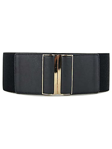 belt black gold buckle